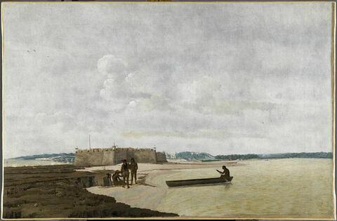 L'Ancien Fort portugais des Trois-Rois-Mages ou Fort Ceulen, à l'embouchure du Rio Grande, au Brésil