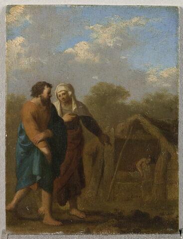 La vieille Sarah engage Abraham à prendre l'Égyptienne Agar pour femme