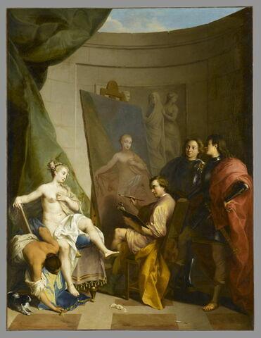 Apelle peignant Campaspe, maîtresse d'Alexandre