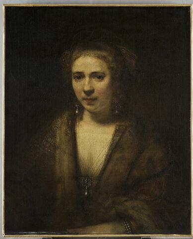 Portrait de Hendrickje Stoffels (1625-1662) au béret de velours