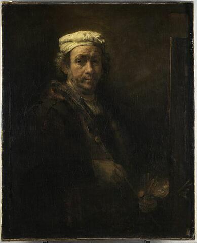 Autoportrait au chevalet et à l'appuie-main de peintre