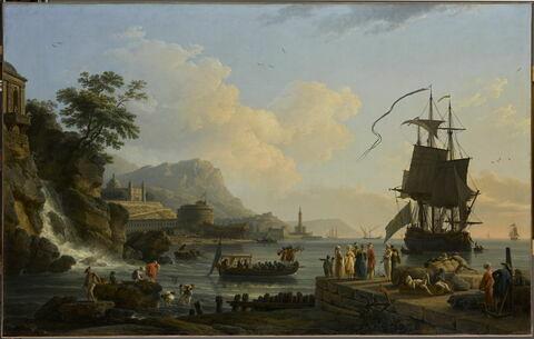 Marine et paysage sur les bords de la Méditerranée