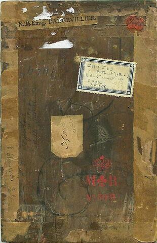 dos, verso, revers, arrière ; vue d'ensemble ; vue sans cadre © 2003 Musée du Louvre / Peintures