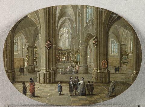 Intérieur d'église. Effet de jour