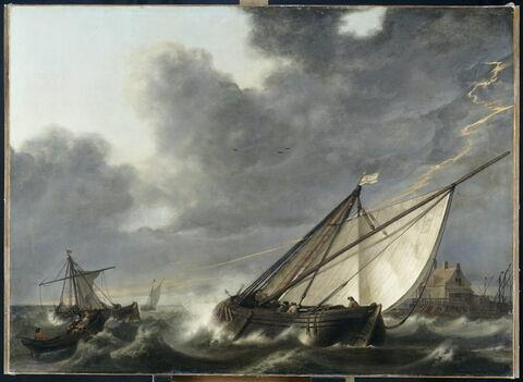 Bateaux pris dans un orage