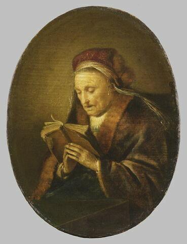Femme âgée priant ou La Prophétesse Anne, dit aussi La Mère de Rembrandt