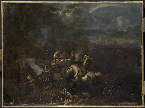 Choc de cavalerie entre Turcs et Impériaux
