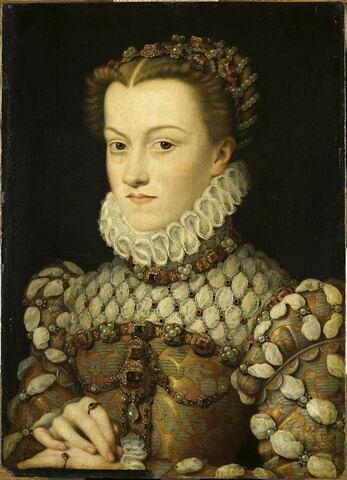 Élisabeth d'Autriche (1554-1592), reine de France, femme de Charles IX.