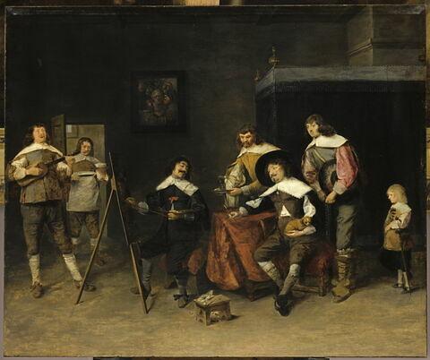 Peintre faisant un portrait, dit autrefois L'atelier de Craesbeeck