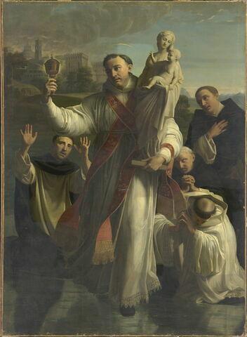 Saint Hyacinthe sauvant la statue de la Vierge des ennemis du nom chrétien
