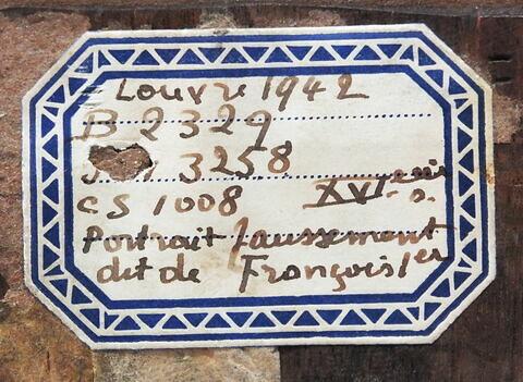 dos, verso, revers, arrière ; détail étiquette © 2018 Musée du Louvre / Peintures