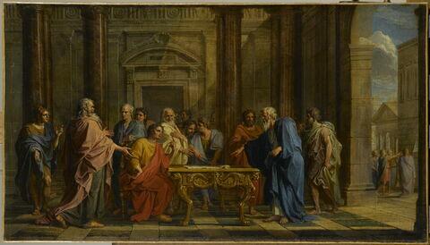 Solon soutenant la justice de ses lois contre les objections des Athéniens