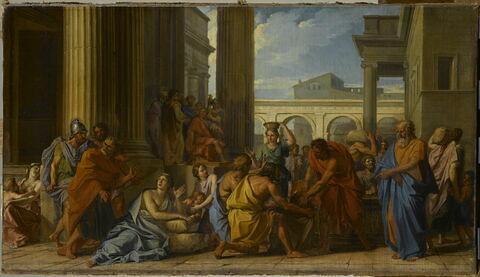 Alexandre Sévère faisant distribuer du blé au peuple de Rome dans un temps de disette