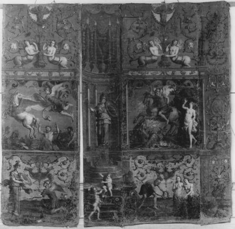 Le triomphe de Minerve (fragments)