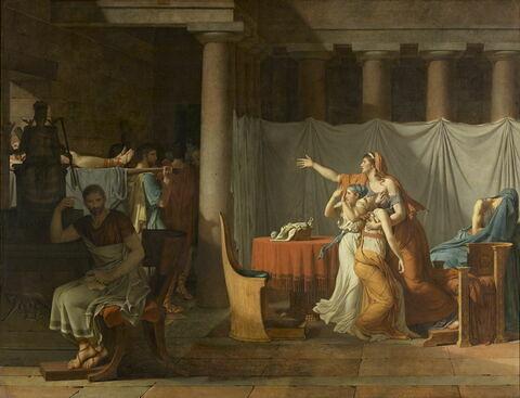 Les licteurs rapportent à Brutus les corps de ses fils.