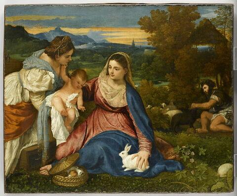 La Vierge à l'Enfant avec sainte Catherine d'Alexandrie et un berger,  dit La Vierge au lapin
