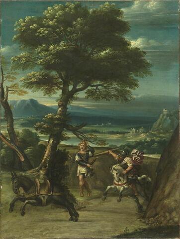 Paysage avec Absalon percé d'une lance par Joab