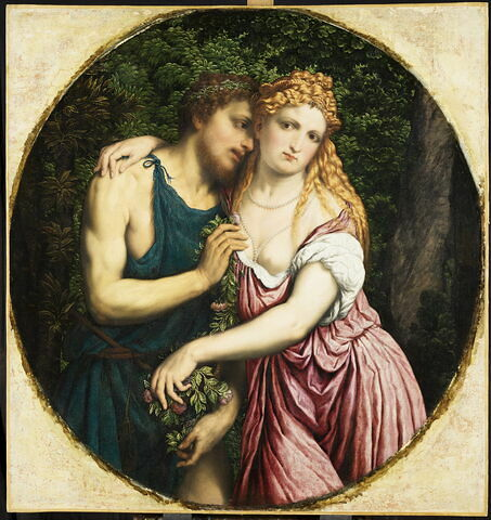 Un couple mythologique (Vénus et Anchise?)