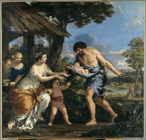 Romulus et Rémus recueillis par Faustulus