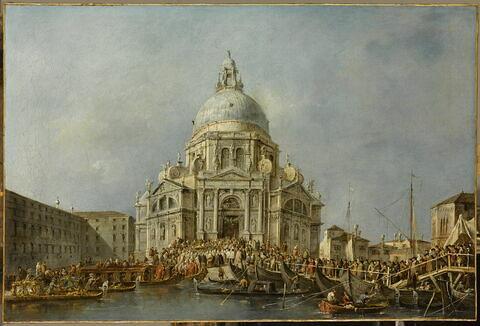 Le Doge de Venise se rend à la Salute, le 21 novembre, jour de la commémoration de la fin de la peste de 1630