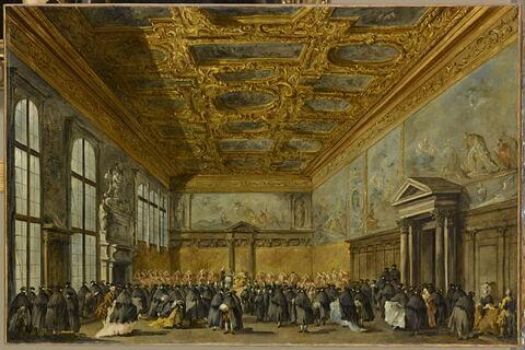 L'Audience accordée par le doge de Venise dans la salle du Collège au palais des Doges de Venise