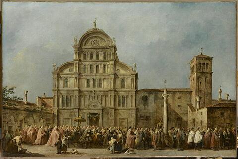 La Procession du doge de Venise à l'église de San Zaccaria, le jour de Pâques