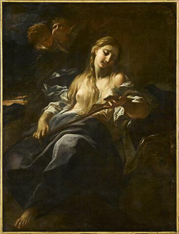 La Madeleine en méditation devant un crucifix
