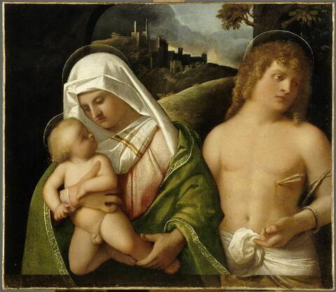 La Vierge à l'Enfant avec saint Sébastien