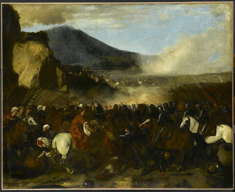 Combat de turcs et de chevaliers
