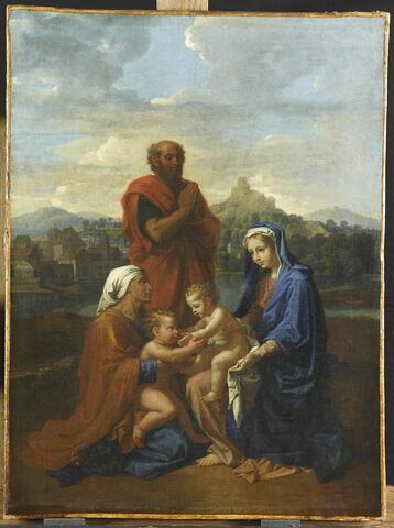 La Sainte Famille avec saint Jean, sainte Elisabeth et saint Joseph priant