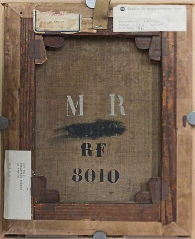 dos, verso, revers, arrière ; vue d'ensemble ; vue sans cadre © 2015 Musée du Louvre / Peintures