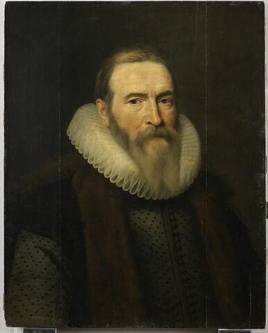 Portrait de Jan van Oldenbarneveld (1547-1619), conseiller pensionnaire de Hollande et diplomate, à l'âge de soixante-dix ans