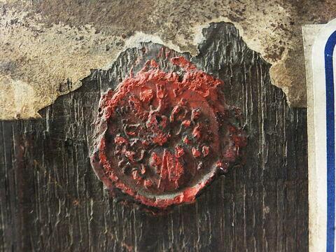 dos, verso, revers, arrière ; détail cachet © 2016 Musée du Louvre / Peintures