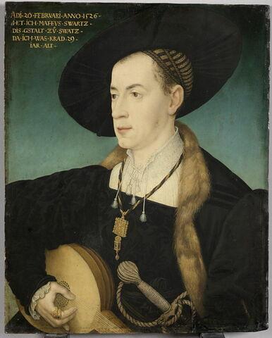 Portrait de Matthäus Schwartz (Augsbourg, 1497-1574) jouant du luth