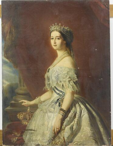 L'impératrice Eugénie (1826-1920), en buste.
