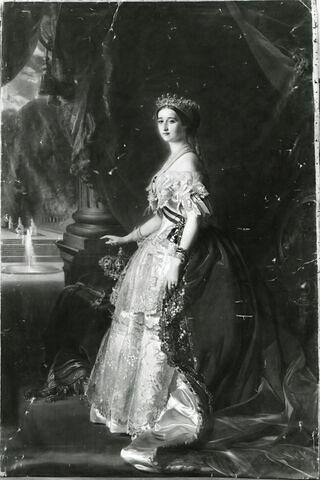 L'impératrice Eugénie (1826-1920), en pied.