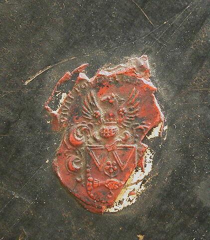 dos, verso, revers, arrière ; détail cachet © 2004 Musée du Louvre / Peintures