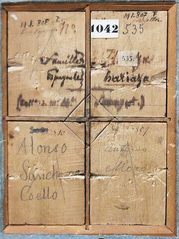 dos, verso, revers, arrière ; détail ; vue avec cadre © 2016 Musée du Louvre / Peintures
