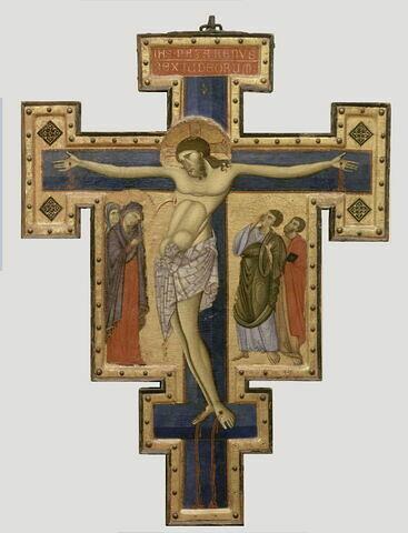 Croix peinte