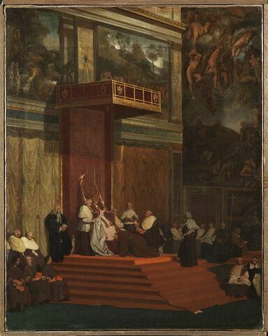 Le pape Pie VII tenant chapelle