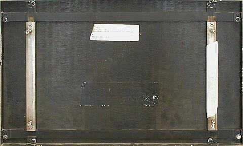 dos, verso, revers, arrière ; vue d'ensemble ; vue avec montage © 2004 Musée du Louvre / Peintures