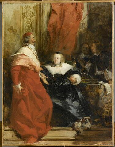 Anne d'Autriche et Mazarin, 1826