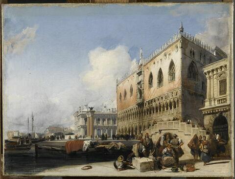 Vue de Venise. Le Quai des Esclavons et le Palais des Doges