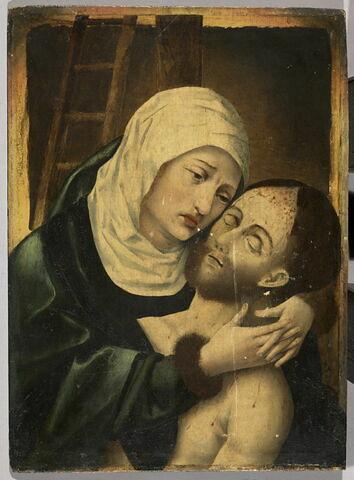 Pietà à mi-corps (la Vierge en buste serrant contre elle le corps de son fils)