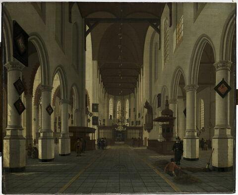 Intérieur de la Vieille Eglise (Oude Kerk) de Delft