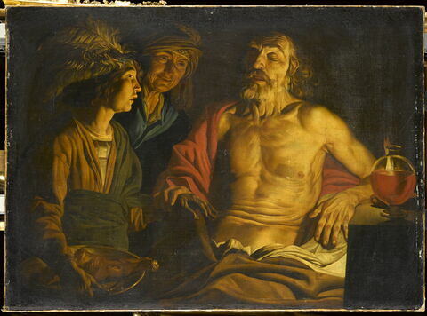Isaac bénissant Jacob en présence de Rebecca