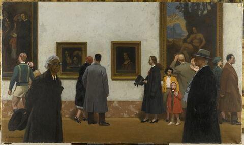 Dans la Grande Galerie du Musée du Louvre