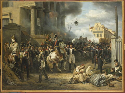 La barrière de Clichy. Défense de Paris, le 30 mars 1814