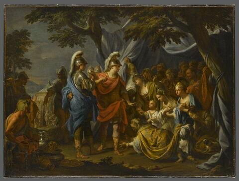 La famille de Darius aux pieds d'Alexandre
