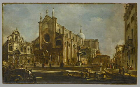 Campo de l'église Giovanni et Paolo avec la Scuola di san Marco,à Venise